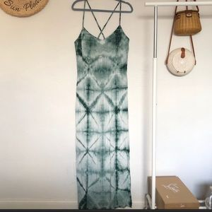 Anthropologie the odells tie dye maxi dress boho